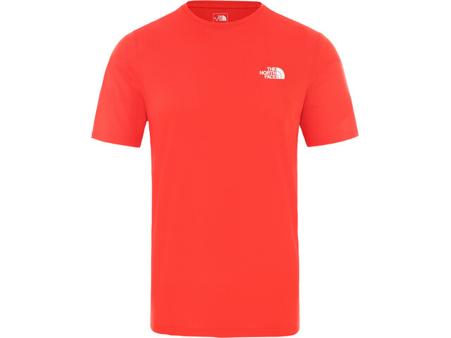 The North Face Flex II Camisa Manga Corta Hombre, fiery red